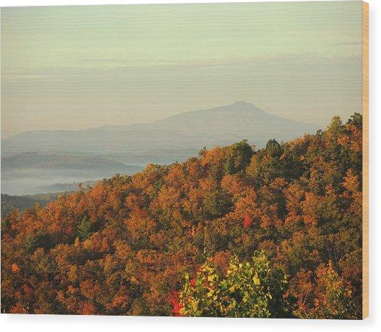 Colorful Ridge Wood Print by Michael Gooch