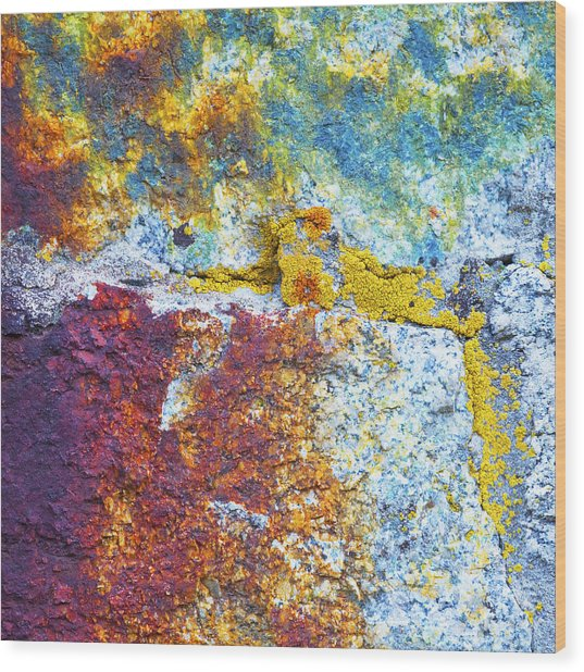 Colorful Rock 5973 Wood Print by Bob Hills