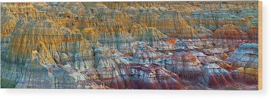 Colorful Rocks Wood Print by Hua Zhu