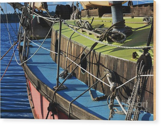 Colorful Sailboat II Wood Print