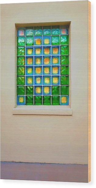 Colorful Savannah Window Wood Print