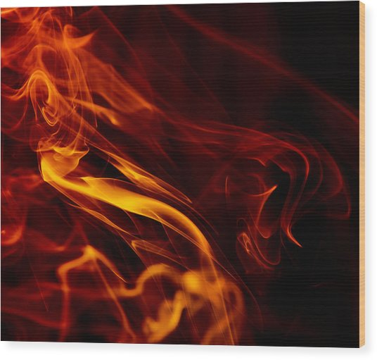 Colorful Smoke Trails Wood Print