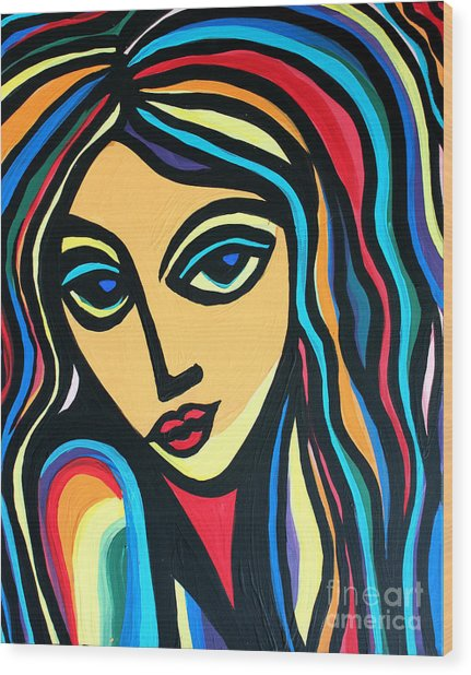 Colorful Stare Wood Print