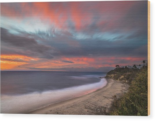Colorful Swamis Sunset Wood Print by Larry Marshall