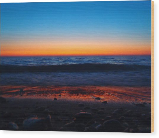 Colorful Twilight Wood Print