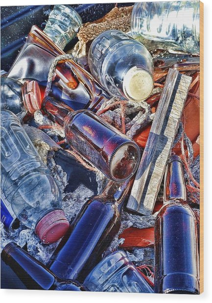 Colorfull Junk Wood Print by Udo Dussling