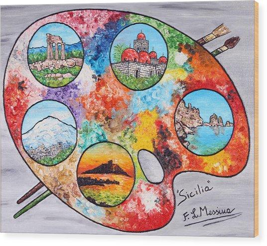 Colori Di Sicilia Wood Print