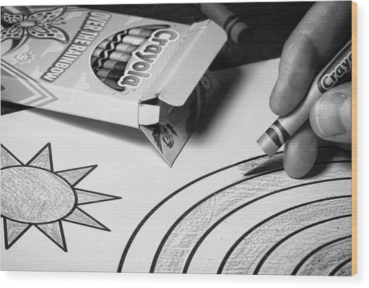 Coloring Without Color Wood Print