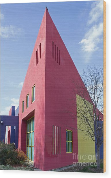 Colors And Angles Wood Print by Steven Parker