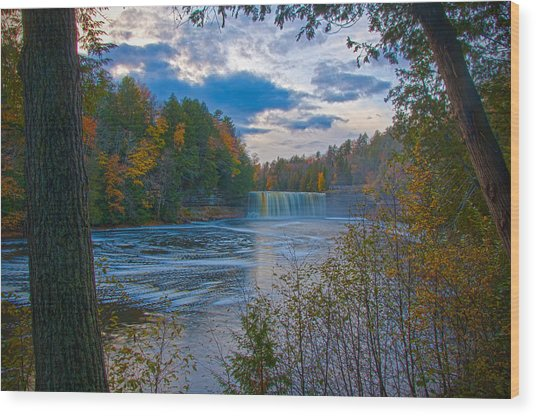 Colors At Tahquamenon Falls Wood Print