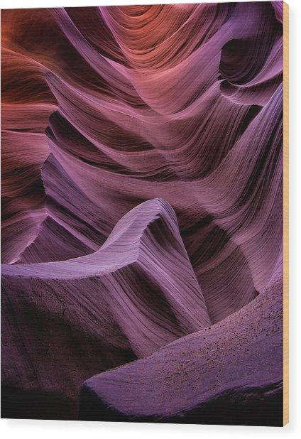 Colors Of Antelope Canyon Wood Print