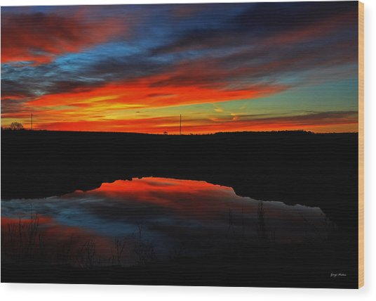 Colors Of Nature- Sunrise 002 Wood Print