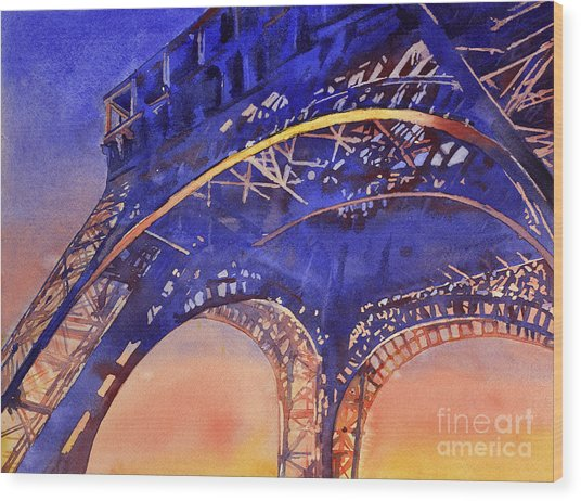 Colors Of Paris- Eiffel Tower Wood Print