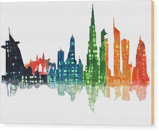 Colors Of The City Wood Print