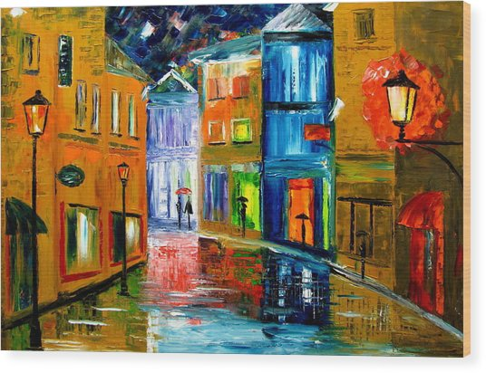 Colors Of The Night Wood Print by Mariana Stauffer