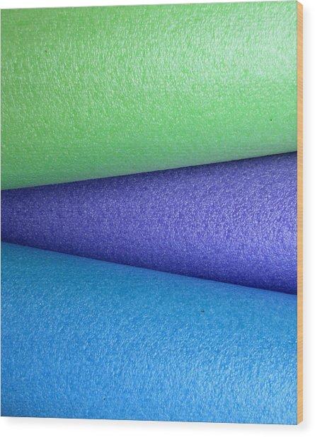 Colorscape Tubes B Wood Print