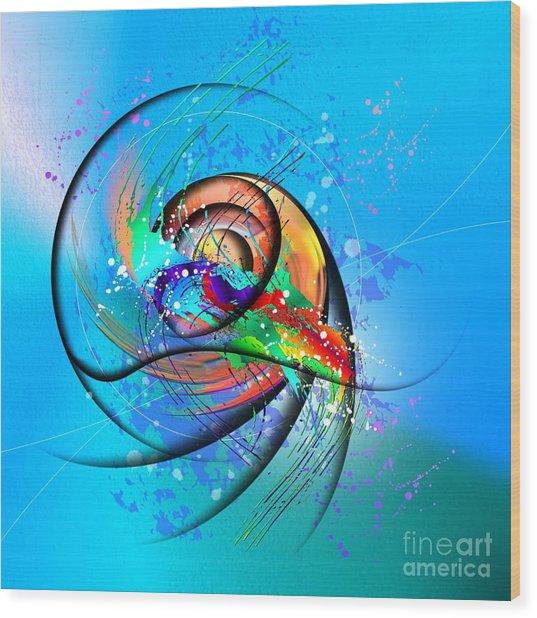 Colorwave Wood Print