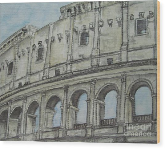 Colosseum Rome Italy Wood Print