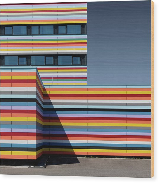 Coloured Corner Wood Print