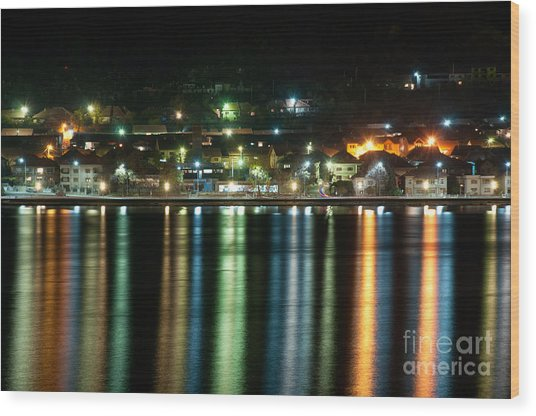 Colourful Night Wood Print by Ciprian Kis
