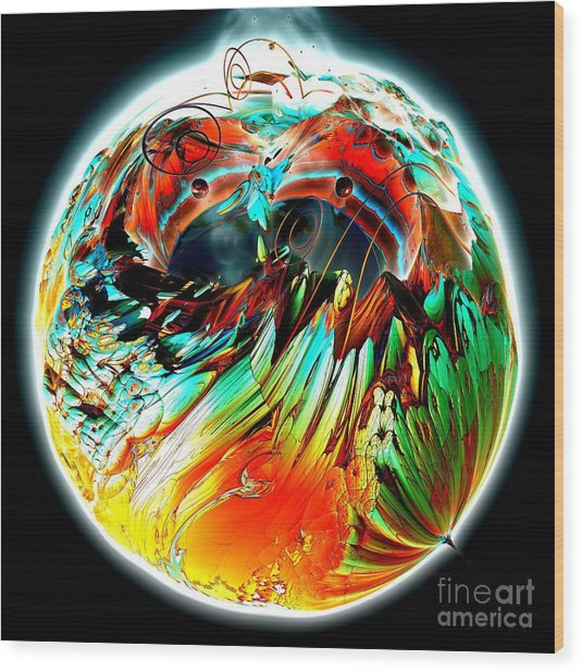 Colourful Planet Wood Print by Bernard MICHEL