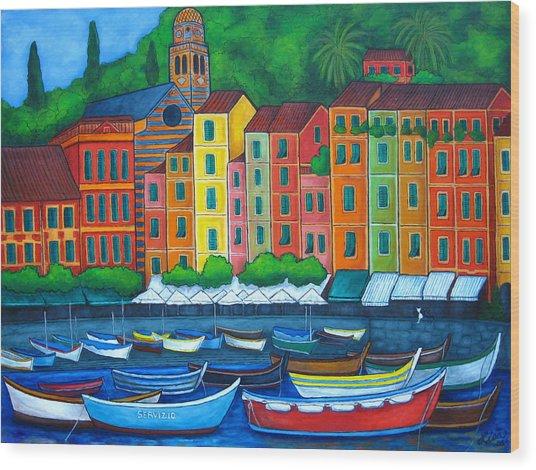 Colours Of Portofino Wood Print