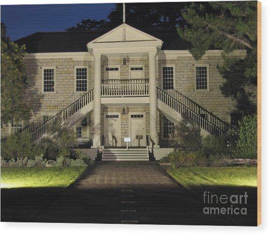 Colton Hall At Night Wood Print