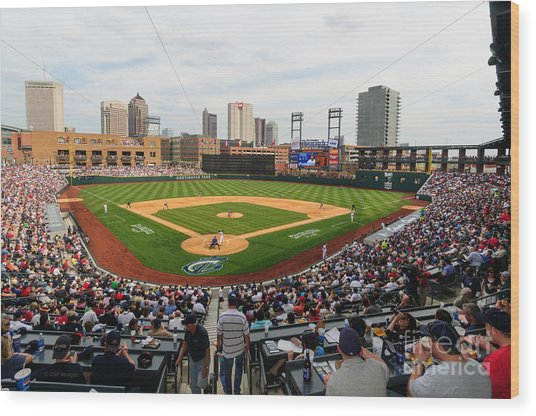 D24w-295 Columbus Clippers Photo Wood Print