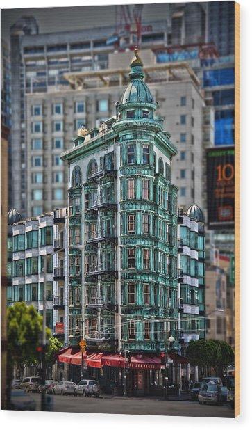 Columbus Tower In San Francisco Wood Print