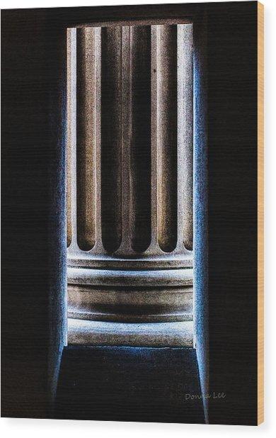 Column Number Nine  Wood Print