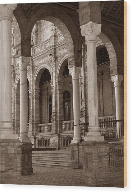 Columns And Arches Wood Print