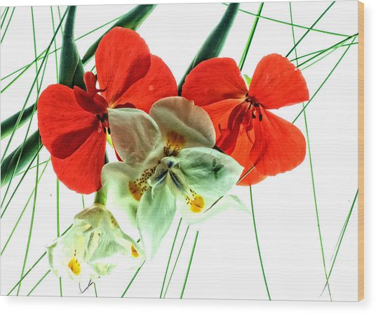 Combo Bouquet Wood Print