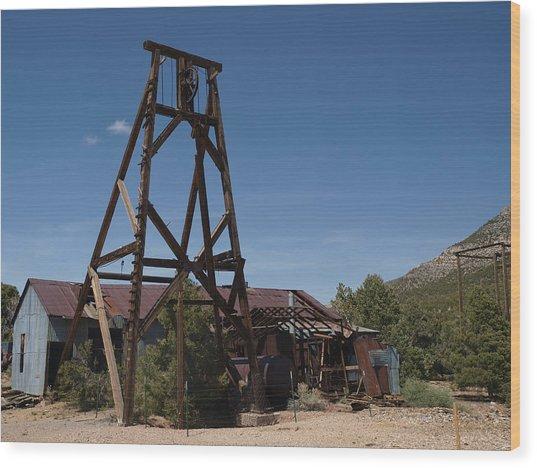 Comet Mine Wood Print
