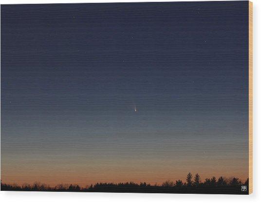 Comet Panstarrs Wood Print