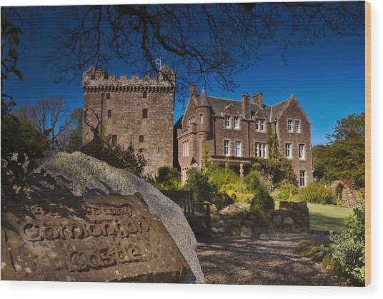 Comlongon Castle Wood Print