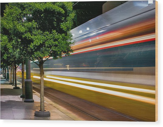 Dallas Commuter Train 052214 Wood Print