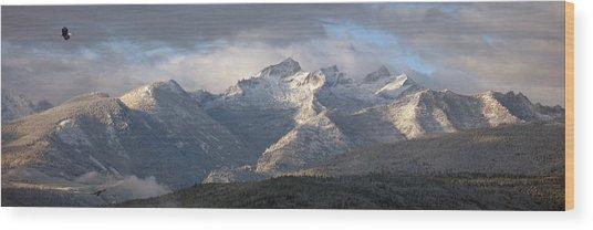 Como Peaks Montana Wood Print