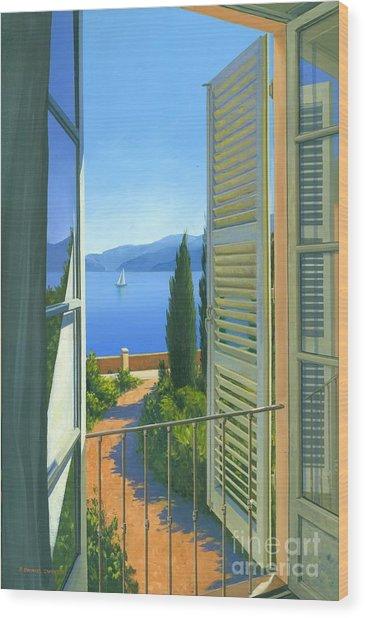 Como View Wood Print