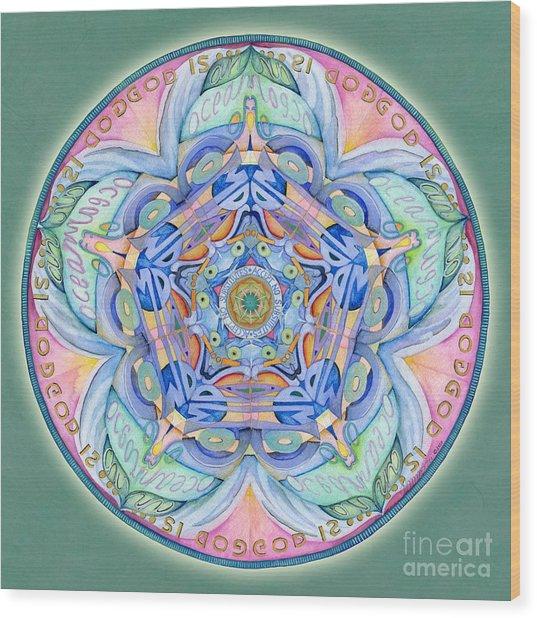 Compassion Mandala Wood Print