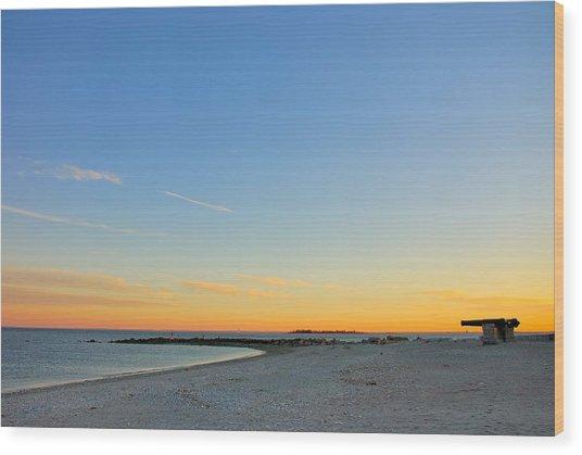 Compo Beach Wood Print