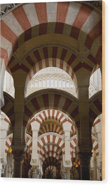 Concentric Arabic Arches Wood Print