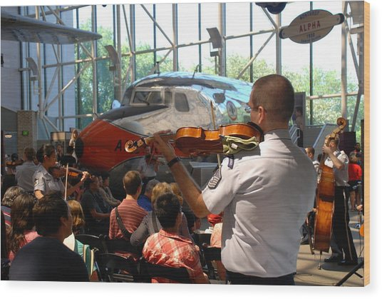 Concert Under The Planes Wood Print