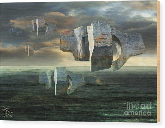 Concrete Clouds Chillida Wood Print