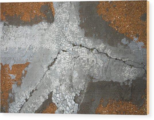 Concrete Evidence Wood Print