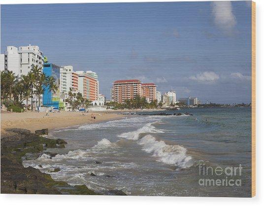 Condado Beach San Juan Puerto Rico Wood Print