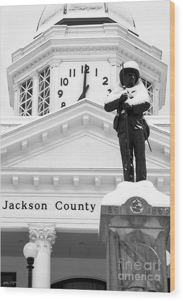 Confederate Soldier Statue 2014 Wood Print
