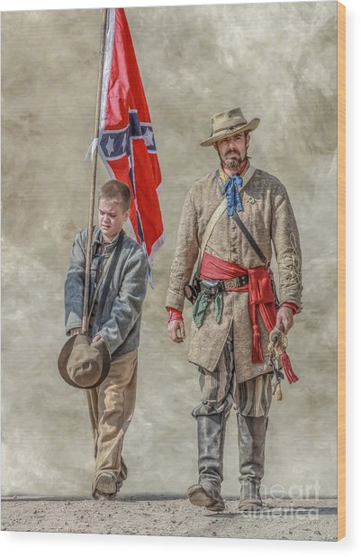 Confederate Sons Wood Print