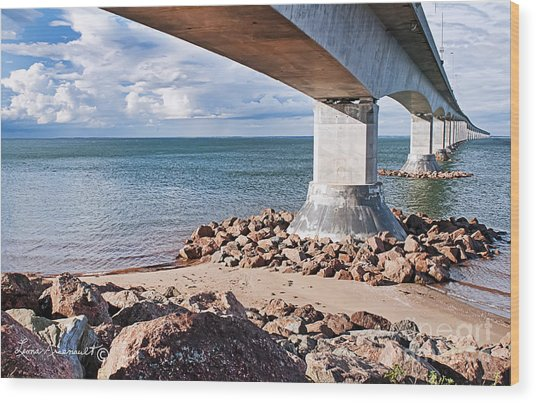 Confederation Bridge Wood Print