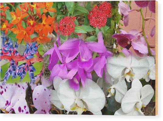 Confluent Flowers 10 Wood Print