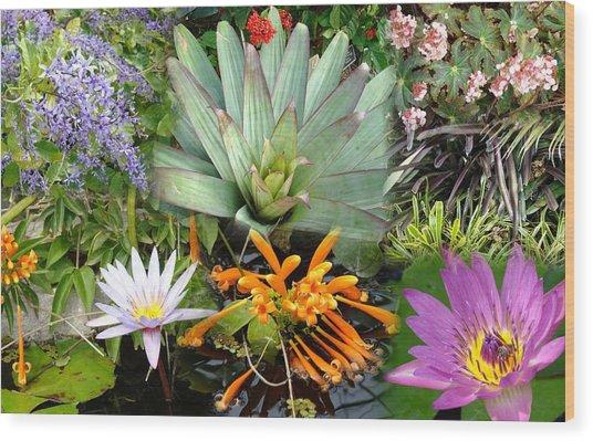 Confluent Flowers 5 Wood Print